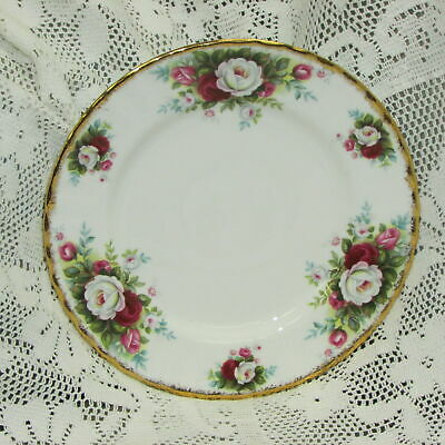"Royal Albert Celebration Bone China Dessert Plate 7 1/8"" England Vintage Cake"