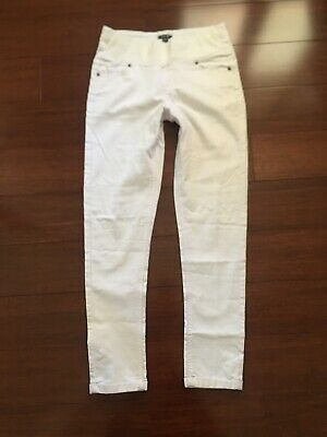 White Patch Ladies Maternity Jeans Size XS 8 10