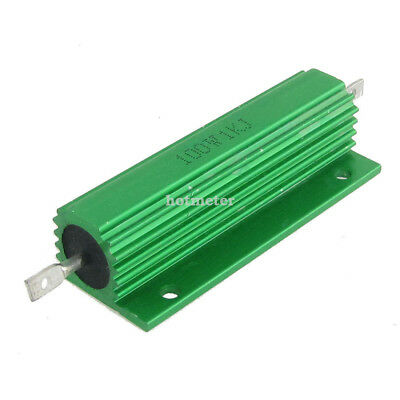 H● 2* Green Aluminum Housed Wirewound Resistors 100W 1Kohm 5%.