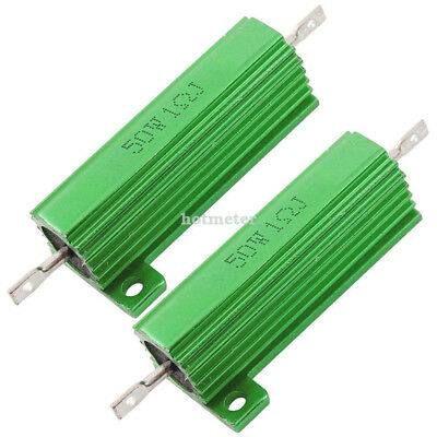 H● 2* Chassis Mounted 50W 1ohm 5% Aluminum CaseWirewound Resistor