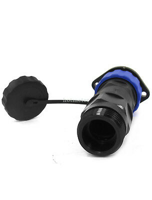 H● SD20 20mm 7 Pins FlangedWaterproof Aviation Cable Connector Socket.