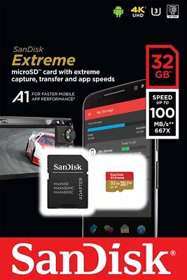 SanDisk Extreme microSDHC 32 GB Class 10 UHS-I V30 A1 100MB/s mit SD-Adapter Jun