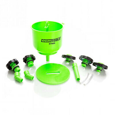 Oem Tools 87009 No-Spill Coolant Filling Plastic Funnel Kit Green