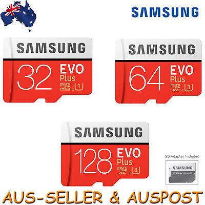 Samsung EVO Plus 32GB 64GB 128GB Micro SD Memory Card SDHC SDXC C10 +Adapter