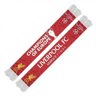 LIVERPOOL FC OFFICIAL Uefa CHAMPIONS LEAGUE 2019 FINAL Madrid Scarf Winners