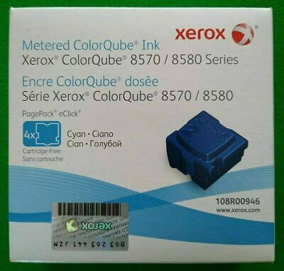 108R00946 Cyan Solid Ink - for ColorQube 8570 (4 Cubes) *NEW/SEALED*