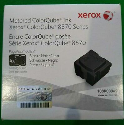 108R00949 Black Solid Ink - ColorQube 8570 (4 Cubes) *NEW/OPENED*