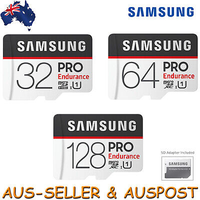 Samsung Pro Endurance 32GB 64GB 128GB Micro SD Memory Card For Dash Cam +Adapter