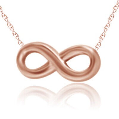 Valentine's Day Infinity Pendant Necklace 18k Rose Gold Over Sterling Silver