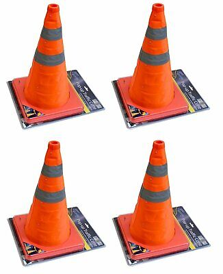 "4 x 18"" Portable Pop Up Safety Traffic Cone Collapsible Driving Road Safety New"