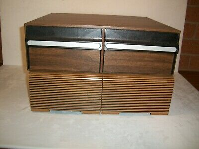 2 Vintage Video Tape VHS Storage Drawers Holds 48 Tapes Music Audio Repurpose