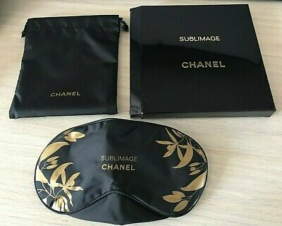 NEW VIP gift Chanel beauty boutique Chanel Sublimage sleep mask in pouch NIB