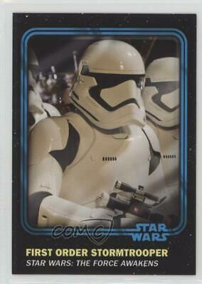 #100 FIRST ORDER STORMTROOPER 2016 Star Wars Trader Physical w//UNUSED CODE BLUE