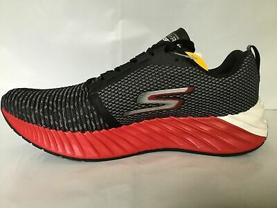 14273eee Skechers Gorun Go Run Forza 3 Men's Running Shoes Black White Red Size 10