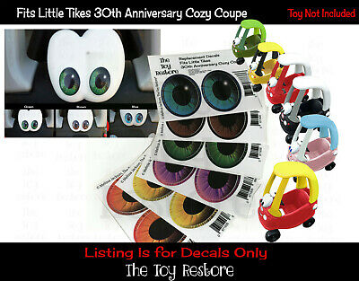 Eye Replacement Stickers Fits Little Tikes custom cozy coupe 30th Anniverary car