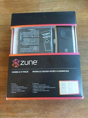 Microsoft Zune Home AV Pack Dock Remote - Boxed & Excellent Condition