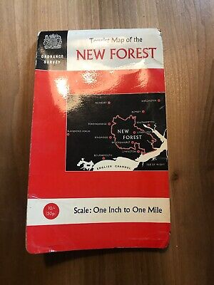 1966 Vintage Ordnance Survey Map Of The New Forest