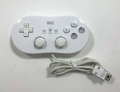 Official Genuine Nintendo Wii White Classic Controller RVL-005 OEM Tested