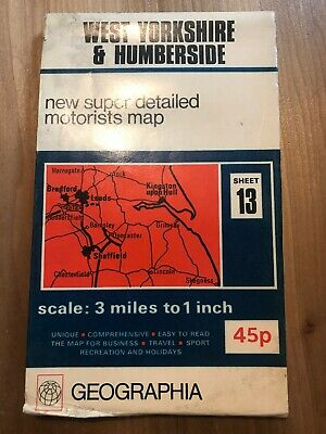 Geographia West Yorkshire Humberside Map Old