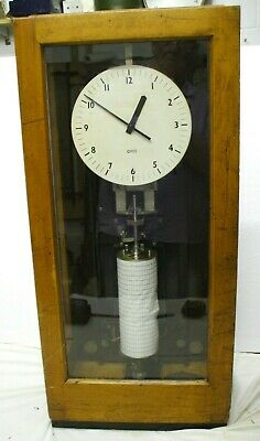 Gents Of Leicester Electric Slave Driven Watchmans Recording Clock Unit