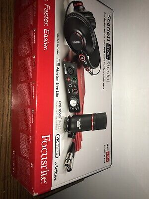 Focusrite Scarlett Solo Studio (2nd Gen) USB Audio Interface Recording Bundle