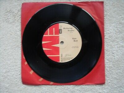 "Kate Bush Wuthering Heights Emi Records Uk 7"" Vinyl Single Record - Solid Middle"