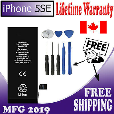 NEW iPhone 5SE Replacement Battery 1624 mAh 616-00106 Free Tools