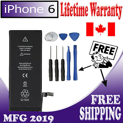 NEW iPhone 6 Replacement Battery 1810mAh 616-0804,616-0805,616-0807 Free Tools