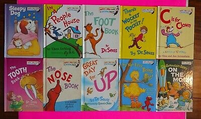 Dr Seuss Lot Beginner Learning Library Bright Early Vintage/Modern 10 Books Used