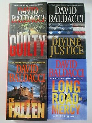 Mixed Lot of 4 DAVID BALDACCI Hardcover Books Guilty: Divine Justice: Fallen
