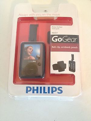 Philips Go Gear Move Pack Black W/Belt Clip, Armband, Silicone Pouch #PAC017 NEW