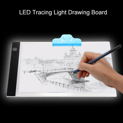 Ultra-Thin LED Tracing Light Box A4 Copy Table Pad w/ Dimmable Brightness AH498