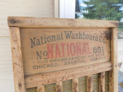 Vintage Antique National Washboard Co The Brass King 801 Great Detail!
