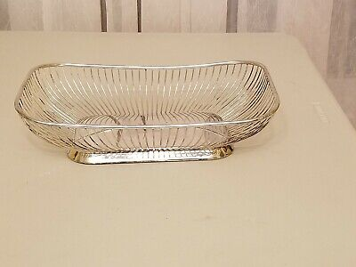 Vintage Gorham Ep Silver Plate Wired Bread/Fruit Basket