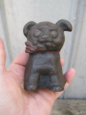 Antique Vintage 1914 Cast Iron Hubley Fido Pup Terrier Toy Dog Still Bank B8365