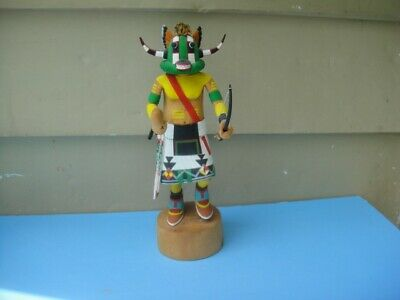 Large Hopi Kachina Doll Hand Carved Painted First 1st Mesa Artist Signed