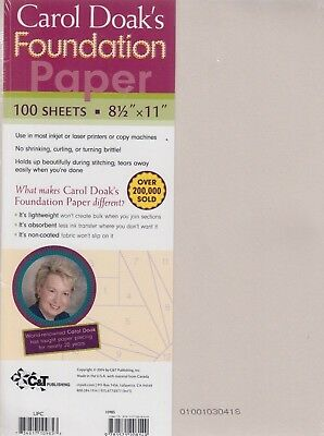 Carol Doak's Foundation Paper - pack of 100 sheets
