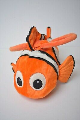 Walt Disney World Finding Nemo Pixar Plush Purse Handle Bag Orange Clownfish 12""