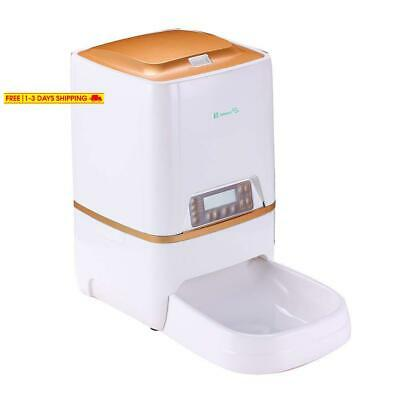 Belopezz 6L Smart Pet Automatic Feeders For Dog And Cat Food Dispenser With Time