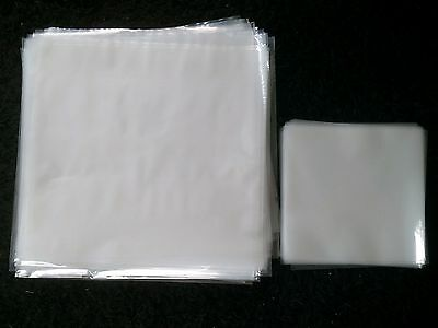 """50 LP / 12"""" CLARITY+ 100 x 7"""" NEW PLASTIC OUTER RECORD COVER SLEEVES FOR VINYL"""