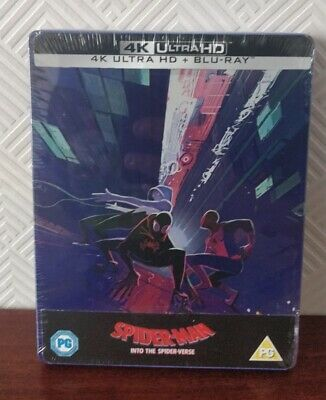 Spiderman In To The Spiderverse UK 4k/ Bluray Steelbook