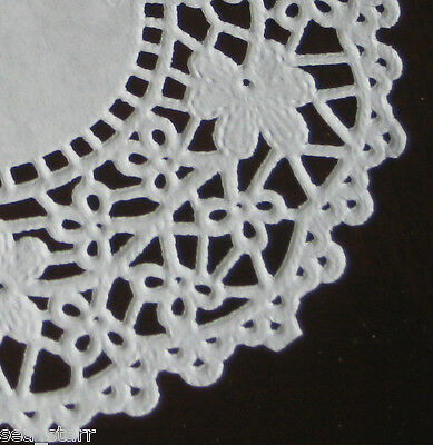 """5.5"""" INCH WHITE PAPER DAISY FLOWER LACE DOILY 100 PCS CRAFT ROUND FANCY CARDs ❤"""