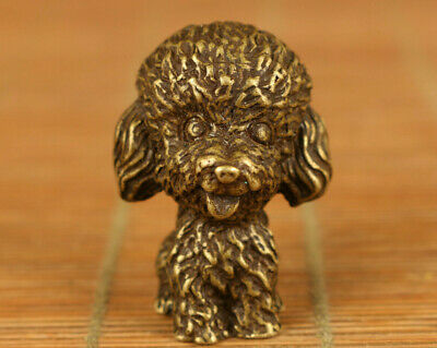 Rare chinese old bronze hand carving lovely dog statue figue noble decoration