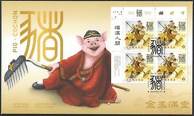 2019  Canada ULpb    OFDC  LUNAR -  NEW YEAR OF THE PIG       New 2019 Issue