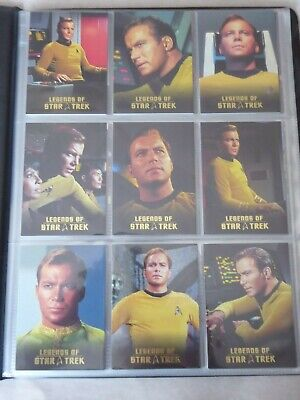 Legends of Star Trek - KIRK L1-L9  1316/1701- Rittenhouse card set