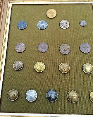 Collection De  18 Boutons Garde Nationale 1815 1872