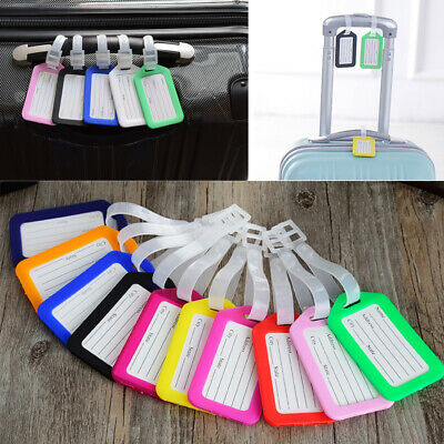 1~10PCS Travel Luggage Tags Suitcase Label Office Name Address ID Bag Baggage