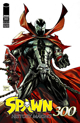 Spawn #297 - 300 Mcfarlane J Scott Campbell Main B&W Virgin (2019) Image Comics