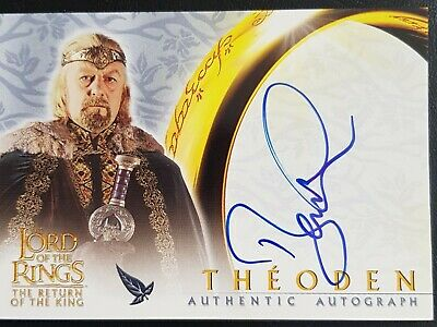 Lord of the rings. Topps.Return of the King.Bernard Hill as Theoden.