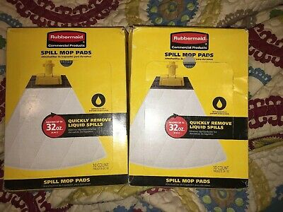 2 X Rubbermaid Commercial Spill Mop Pads 10 Pk Replacement Mop Heads 20 Total